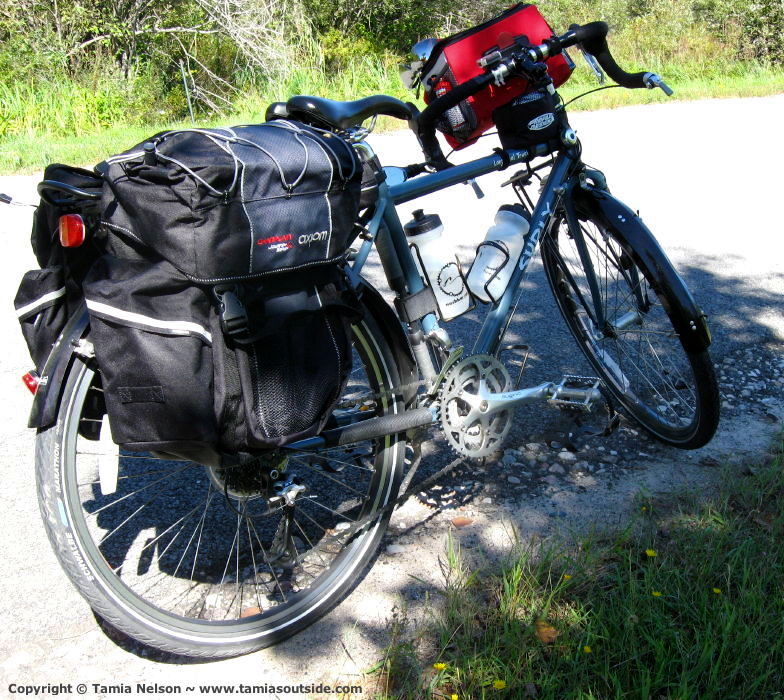 Axiom Champlain Panniers and Petra Going Places