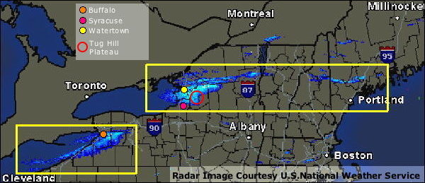 Lake Effect Snow Shown on Radar